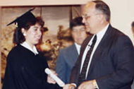 Jackie's graduation from the Bible Institute and Seminary