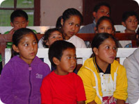 Mexican children attending Vacation Bible School